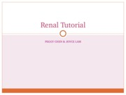 Renal Tutorial ppt