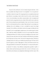 Self Reflection Essay