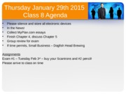 Intro to Business Class 8