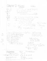 Class Notes - Chapter 2.0 and Exponents