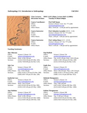 Anth 111 Introduction to Anthropology Syllabus Fall 2014(1)