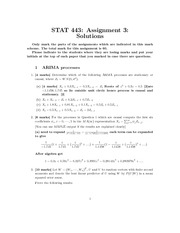 STAT 443 assignment3solutions