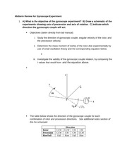 Midterm Review for Gyroscope Experiment