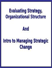 14 -Organising for Success - Structiure- Ev of Str - Intro to Change