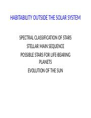 EXOSOLAR SYSTEMS