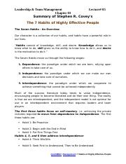 06-Chapter 03-Lecture 05 (7 Habits of Highly Effective People)