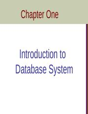 Chapter 1-Introduction to Database System