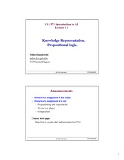 Lecture Notes on Propositional Logic