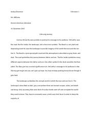 FINAL ESSAY ON THE ROAD! life long journey.docx