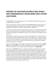 GSLV-history- and success afer 20years