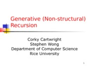 Generative Recursion