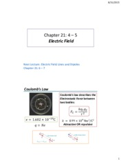 Lecture 02 - Electric Field