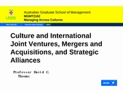 MAs, JVs and Strategic Alliances-Student Version