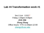 4 transformation week1 Friday