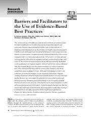 bsrriers and facliltators to the use of evidence-based best practices7.pdf