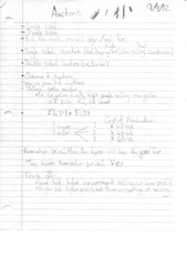 ECON 1101 Auctions Notes