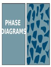 Lecture 2 - Phase Diagrams