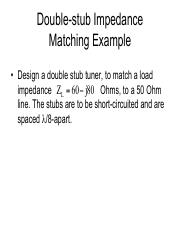 double-stub matching