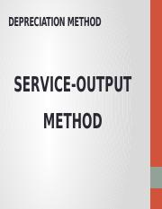 SERVICE-OUTPUT METHOD