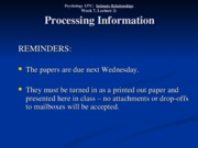 Wk. 7, Lect. 2 - Processing Information