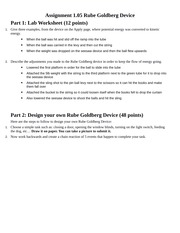 Part 2 Design Your Own Rube Goldberg Device 48 Points Here