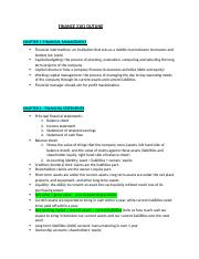 FINANCE 3101 OUTLINE
