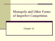 Chapter 10 PowerPoint Slides - Monopoly