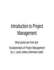 Introduction to Project Management WEBCT.ppt
