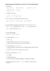 189688488-Calculus-Worksheet