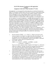 econ 2p91 assignment 1 Median essays and research papers | examplesessaytodaybiz  14-10-12 下午1:09 econ-3740 introduction to econometrics  econ 2p91 assignment 1.