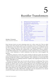 Chapter 5. Rectifier Transformers