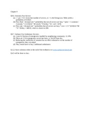 Chapter 9 ANSWER KEY