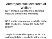 Lecture 6 - Measures of welfare