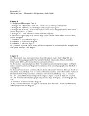 Economics 251; Study Guide for Mid - term Exam; Ch.1 to 6 For Summer 2015.doc