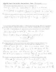 Math 150-Exam 3-Solutions-Fall-2014