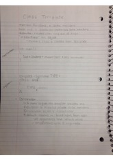 class template notes
