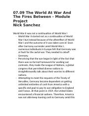 07.09 The World At War And The Fires Between - Module Project .docx