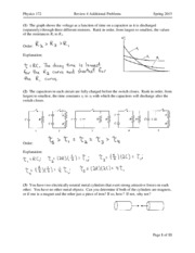 Exam 4 Review Solutions