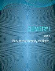 Unit 1 science of chemistry