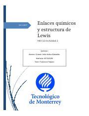 Ernesto Muñoz Miii U3 Act 2 Enlaces Qumicos Y Estructura