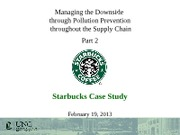 Day 12 - Pollution Prevention and Starbucks