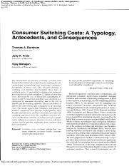 Consumer switching costs A typology, antecedents, and consequences.pdf