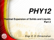 PHY12 Thermal Expansion of Solids and Liquids (2)