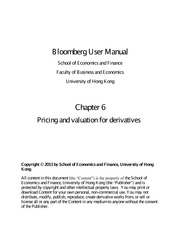 Bloomberg User Manual Chapter Six