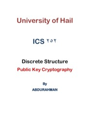 7.Public Key Cryptography