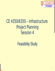 CE 4350, session 4, Feasibility Study, student.pptx