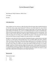 Formal Research Paper