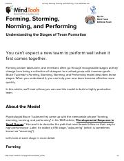 Forming, Storming, Norming, and Performing - From MindTools.pdf