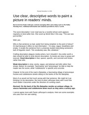 Descriptive Writing--Paula Larouque handout