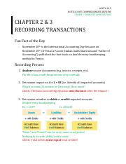 Chapter 2, 3 - Recording Transactions.pdf